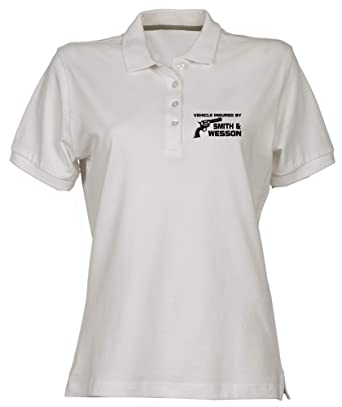 Polo para Mujer Blanco FUN2147 insured by Smith Wesson: Amazon.es ...