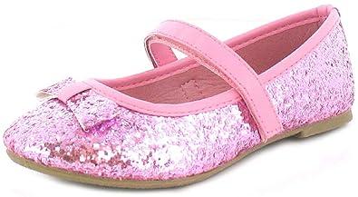 592733af2859b3 Princess Stardust Mädchen Kinder Ballerina Schuhe Rosa Glitter Mit  Elastischen Riemen - Rosa