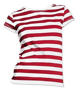 Dónde está el dama traje camisa roja y blanca de la raya tamaño ...