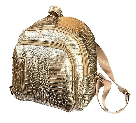 juchen Mochila Resistente al Agua Ocio Mochilas Piel cocodrilo daypacks Mujer Mode Backpack Mini Picnic Pequeño