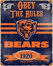 The Party Animal Bears Vintage Metal Sign - Sports Fan Attributes (291.2, 368.3) Blue, Orange