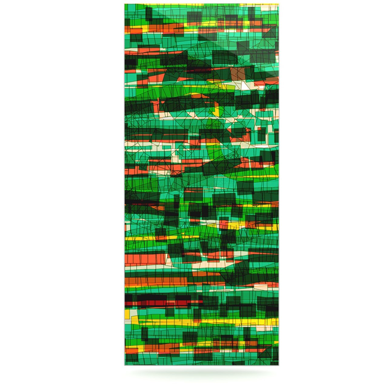 24 x 36 Kess InHouse Frederic Levy-Hadida Squares Traffic Green Luxe Rectangle Panel