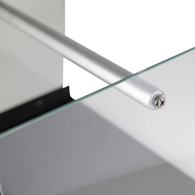 KaminoFlam Kaminholzständer Eisen & Glas - Holzkorb Design - Kaminholzregal Innen - Holzlege schwarz - Kaminholzschale Metall - Holzschale für Kamin Kamino-Flam 122311