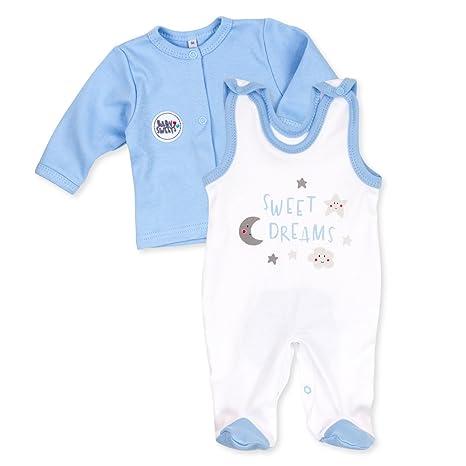 Baby Sweets Juego Pelele bebé + Camiseta Joven Blanco Celeste Diseño: Sweet Dreams | Baby