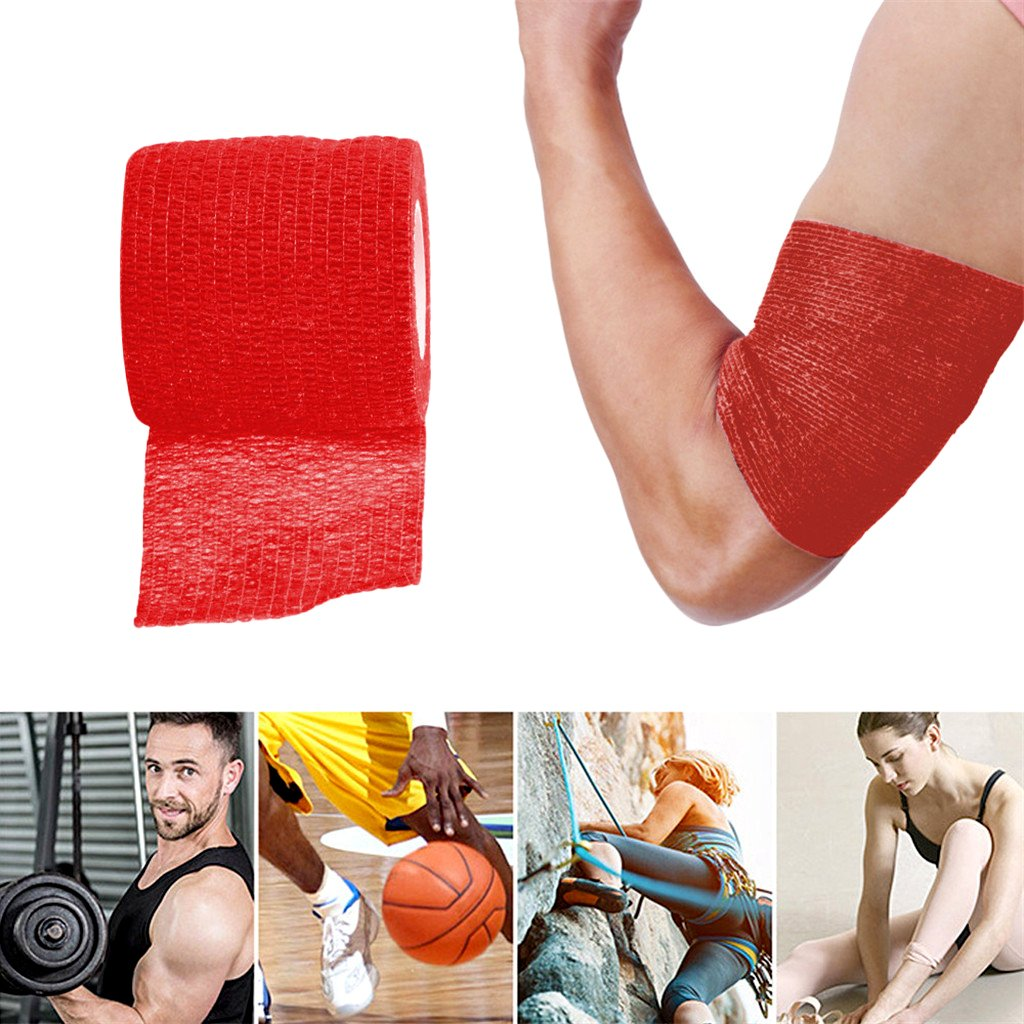 Self Grip Roll Elastic Bandage Handle Grip Tube Tape Blue 5cm Homyl 1Pc Disposable 5cm Wide Cohesive Tattoo Grip Cover Wrap