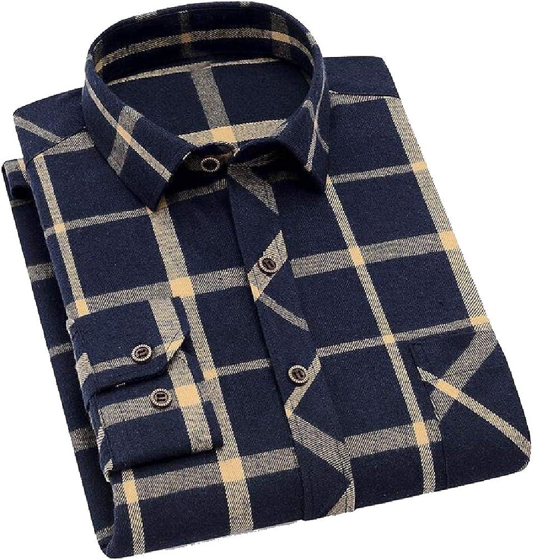 VITryst-Men Regular-Fit Brushed Classic Oversized T-Shirts