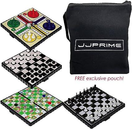 JJPRIME - 4 Juegos de Mesa de Viajes clásicos, Divertidos y ...