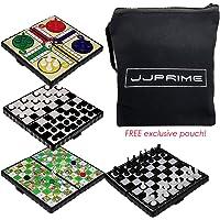 JJPRIME - 4 Juegos de Mesa de Viajes