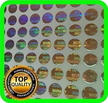 1200 security hologram labels void warranty stickers tamper evident seals round 6mm
