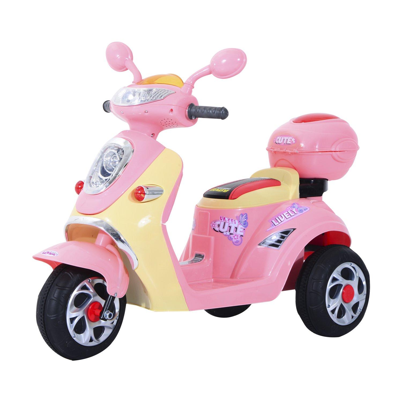 Homcom Elektro Kindermotorrad Rosa