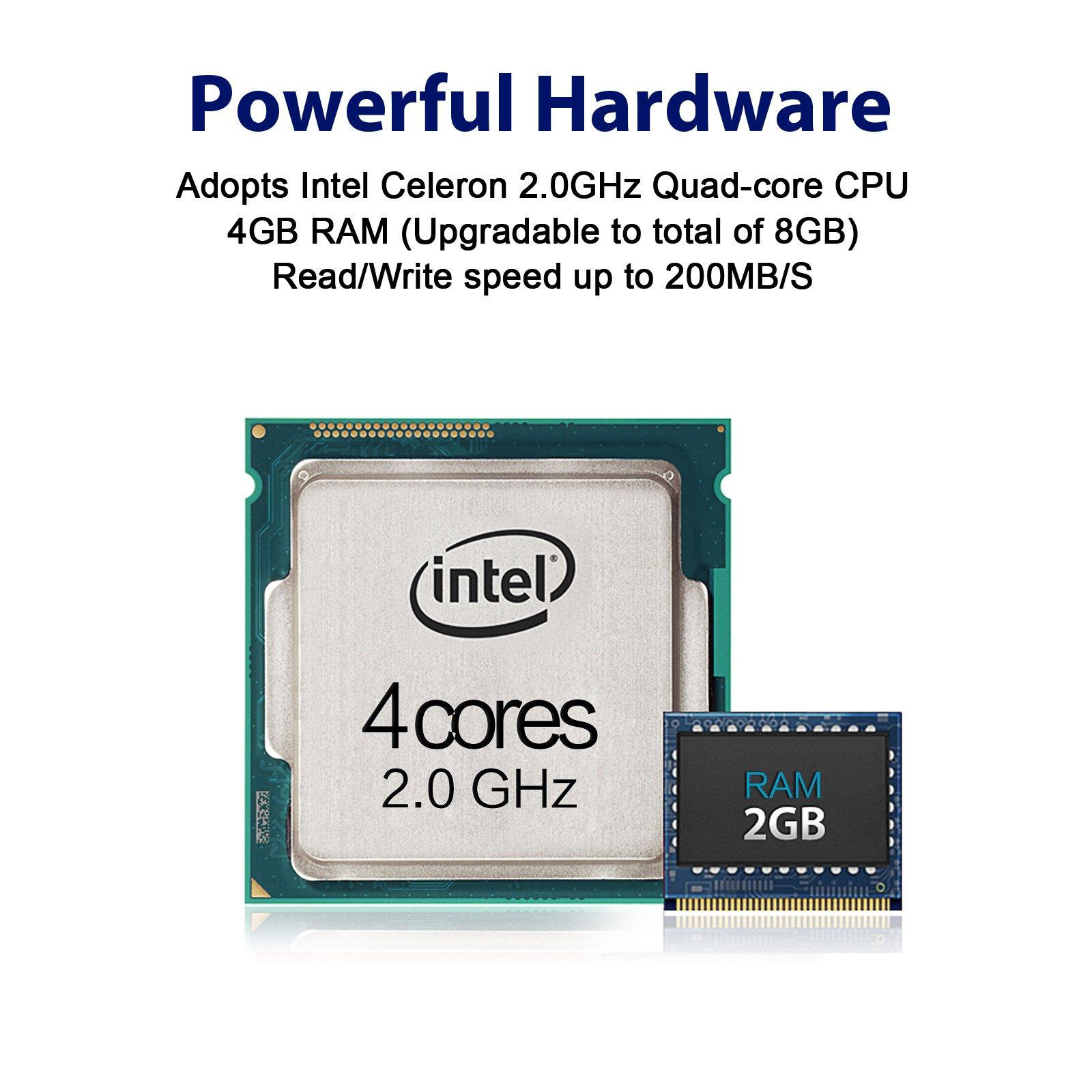 TerraMaster F2-420 NAS Server 2-Bay Intel Quad Core 2.0GHz 4GB RAM Network RAID Storage for Small/Medium Business (Diskless) by TerraMaster (Image #4)