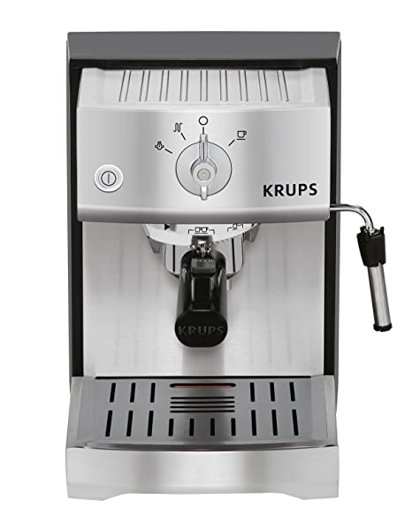 Krups - Xp5240 bomba tamp precisa máquina de espresso, de acero inoxidable