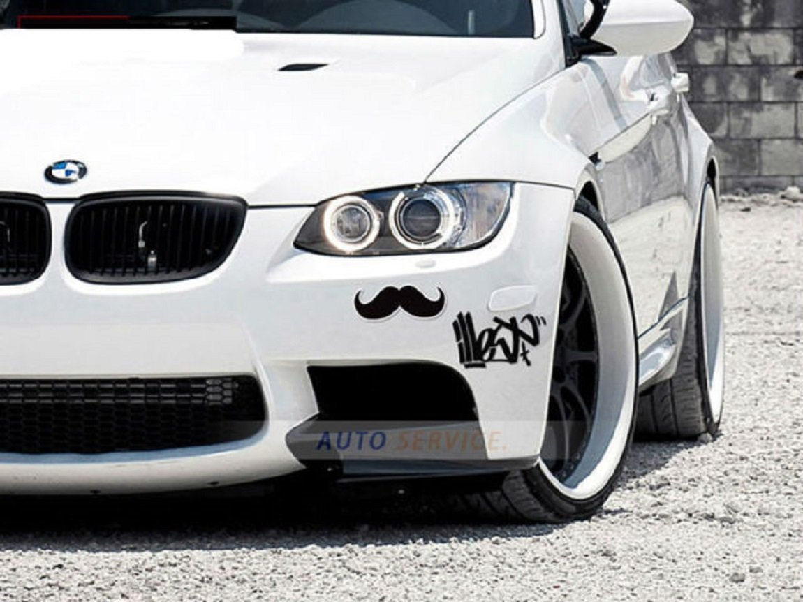 Millionaro Mustache 3d Car Bike Sticker Acrylic Material With
