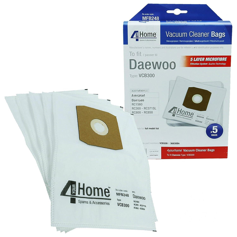 Como Direct Ltd /™ Pack de 5/Daewoo RC3/serie aspiradora bolsas de polvo