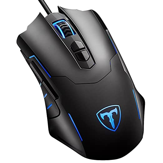 150 opinioni per Mouse da Gioco, VicTsing 7200DPI USB Wired Gaming Mouse LED ergonomica