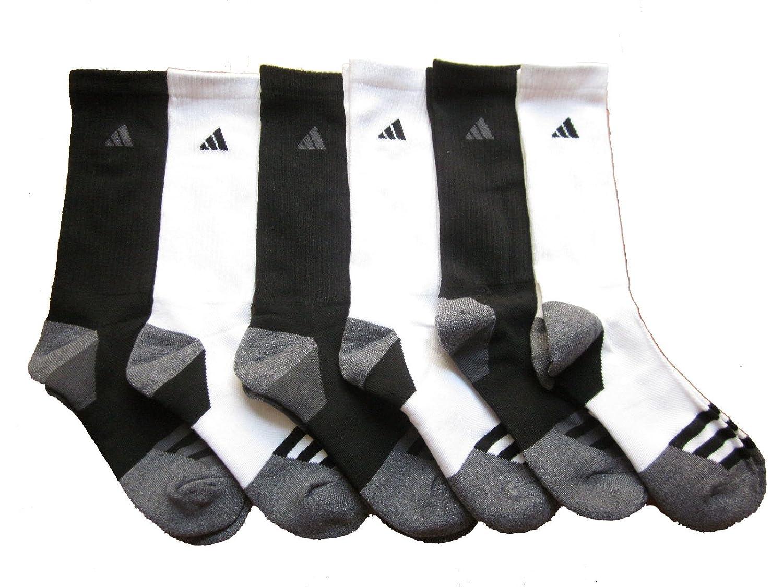 adidas Mens Athletic Cushioned Crew Socks 6-Pack