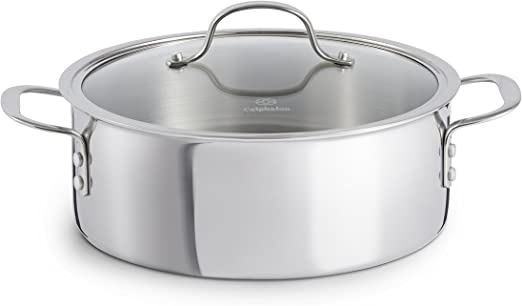 Dutch Oven with Tempered Glass Cover and Stainless Steel Loop CALPHALON 5 Qt