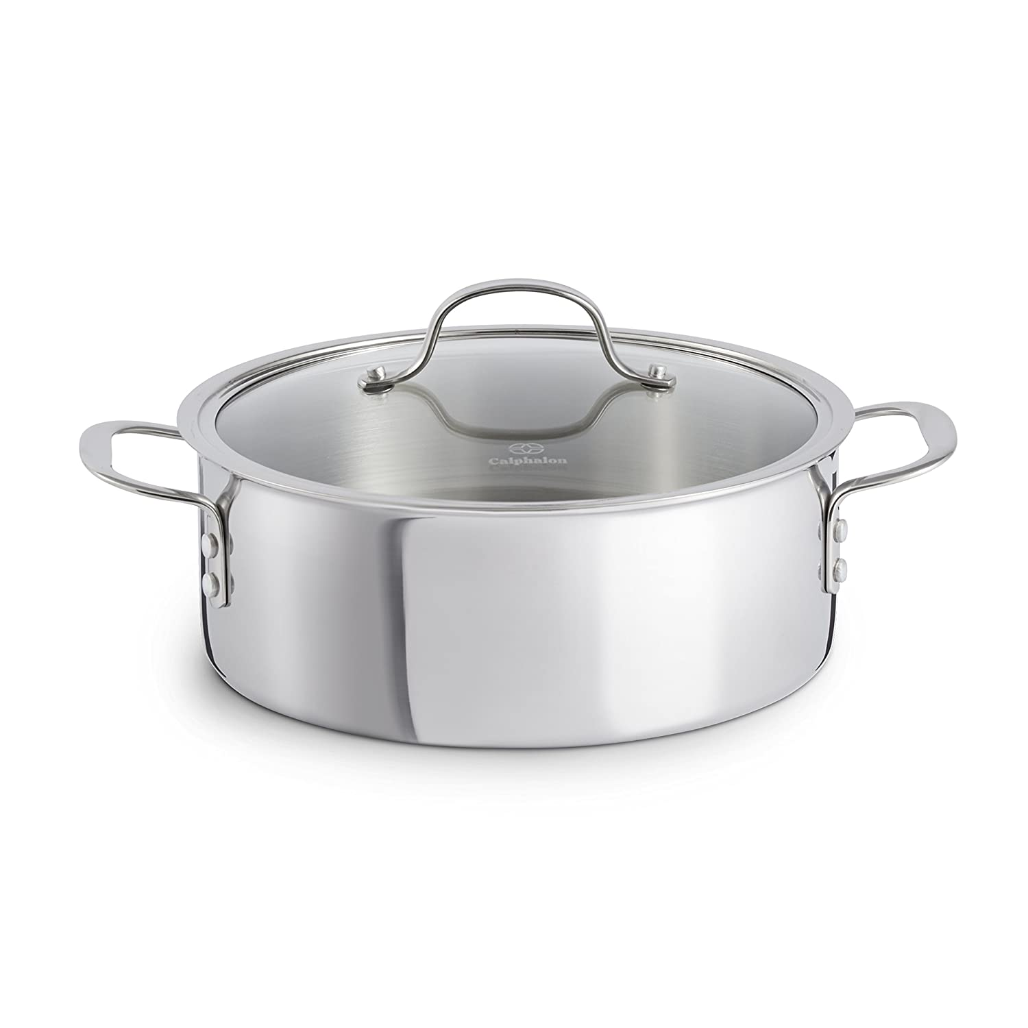 Calphalon Tri-Ply Stainless Steel Cookware, Dutch Oven, 5-quart
