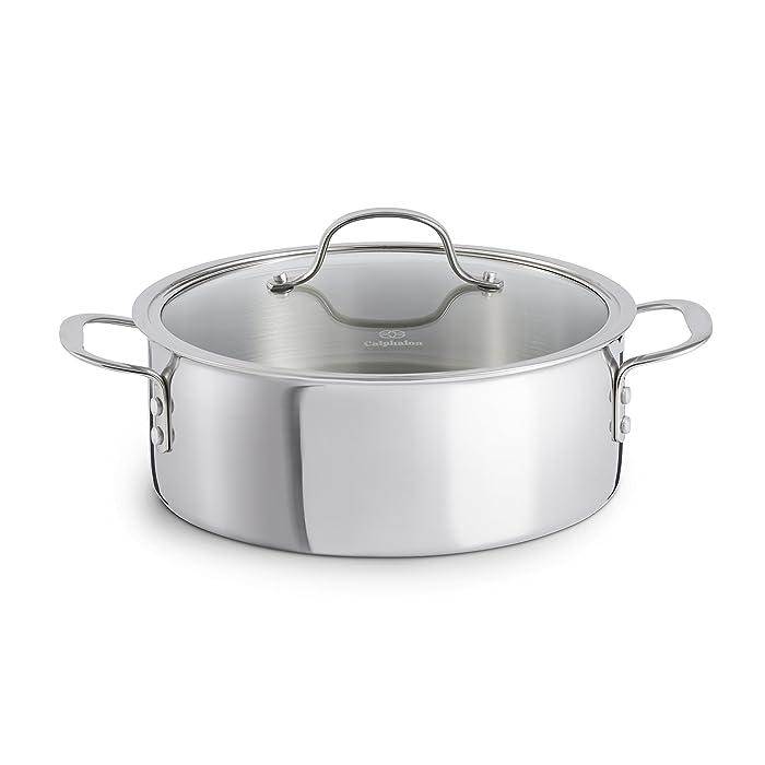 Calphalon Tri-Ply Stainless Steel Cookware, Dutch Oven, 5-quart