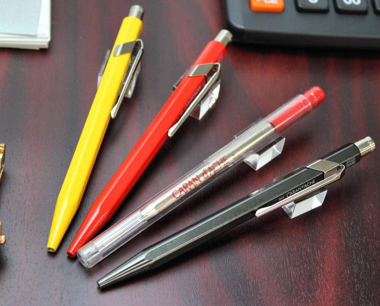 Caran d/'Ache Goliath Red Medium Ballpoint Ink Cartridge 2 Pack