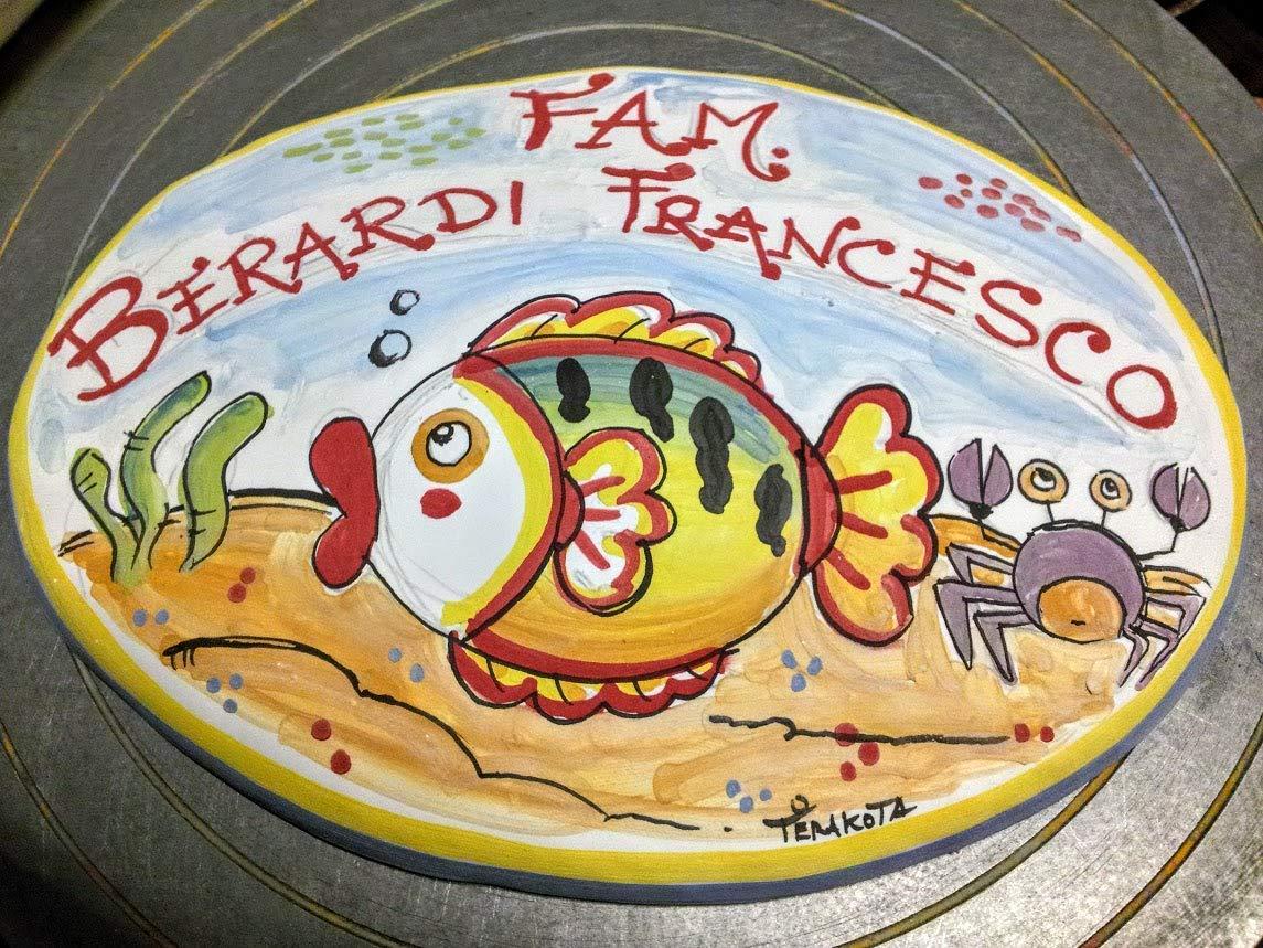 Insegna porta cognome ceramica personalizzata ovale amazon