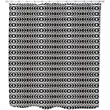 Uneekee Operation Chrome Shower Curtain: Large Waterproof Luxurious Bathroom Design Woven Fabric