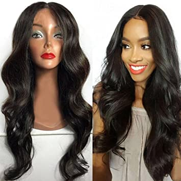 Amazon.com   OrderWigsOnline Virgin Brazilian Body Wave Lace Front Wig  Wholesale Human Hair Front Lace Wigs For African American Women With  Natural Looking ... 08d21ed8c