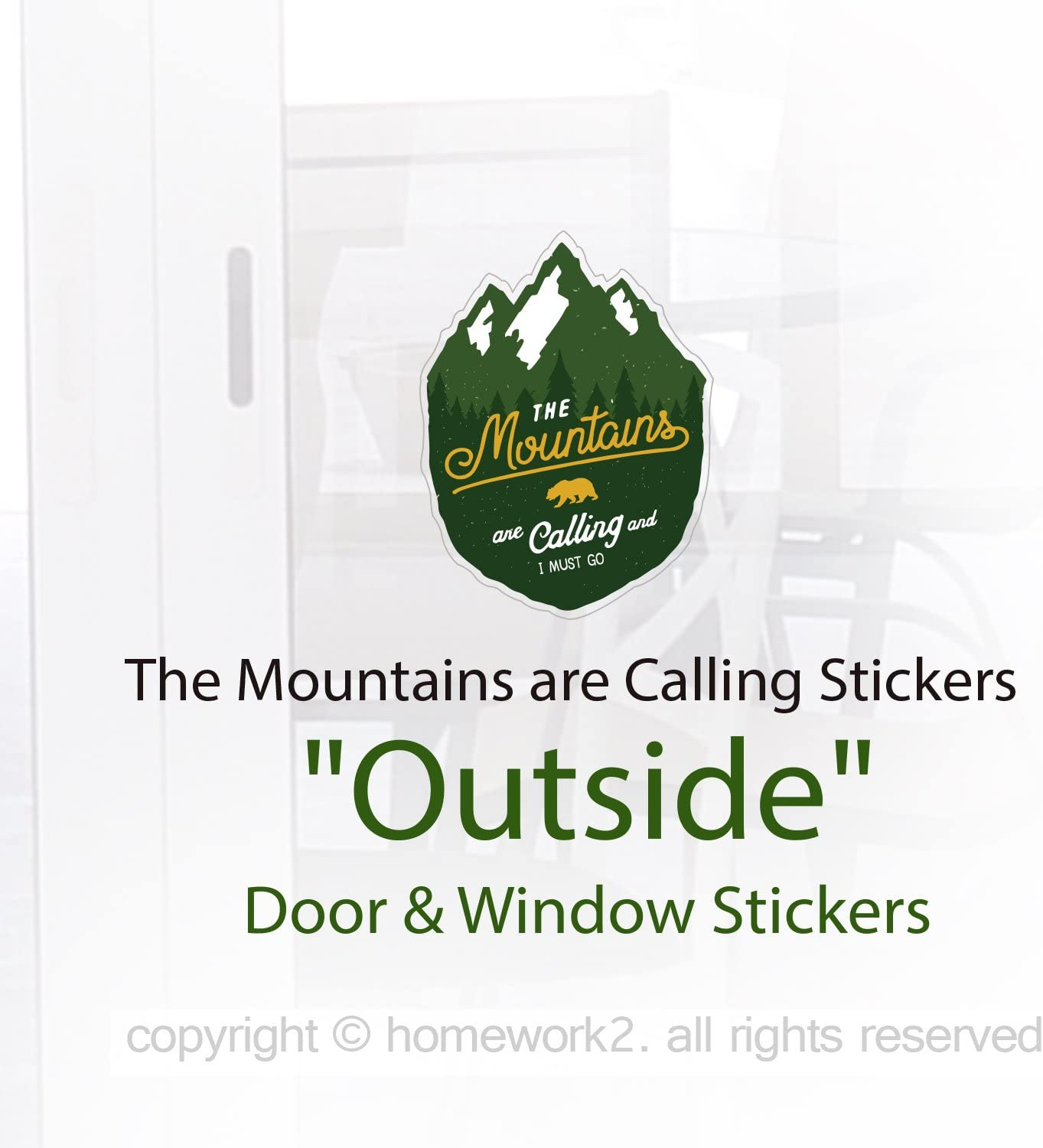 UV Protected /& Waterproof The Mountains are Calling Stickers Vinyl Decal 3 x 4 Pack of 3