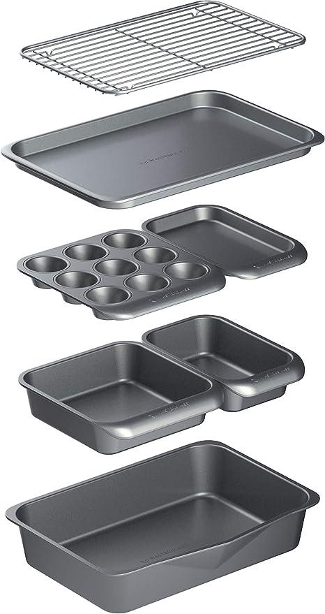 MasterClass Smart Space - Juego de moldes para horno (acero al ...