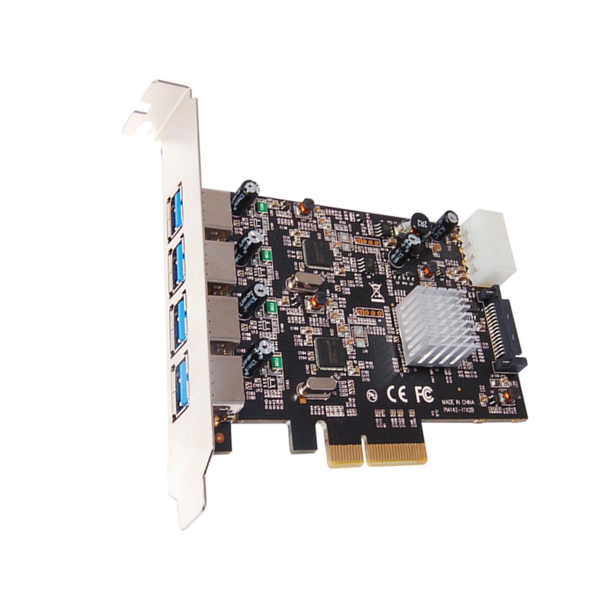 Vantec 4-Port Dedicated 10Gbps USB 3.1 Gen 2 PCIe Host Card with Dual Controller For PCIe x4/x8/x16 slot Black/Silver Black/Silver (UGT-PCE470-2C) by Vantec (Image #3)