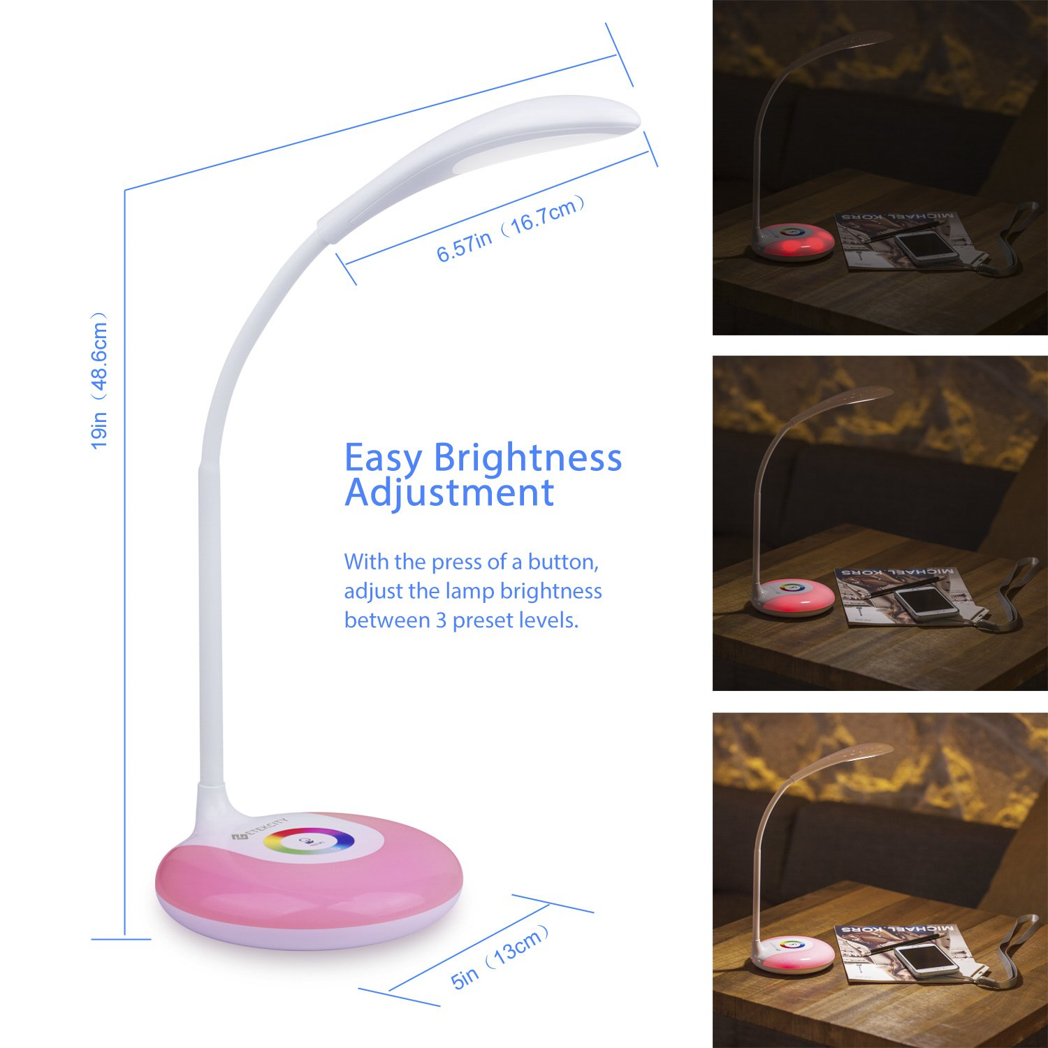Galleon Etekcity Led Desk Lamp With Flexible Gooseneck