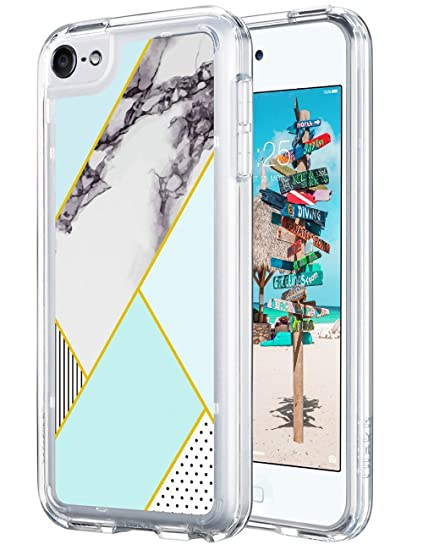 finest selection fe2fc d3656 ULAK iPod Touch 6th Generation case, iPod Touch 7 Case, Slim FIT Hybrid TPU  Bumper/Scratch Resistant Hard PC Back Cover/Corner Shock Absorption Case ...
