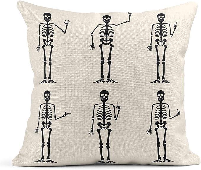 Kinhevao Almohada de Tiro Esqueleto Gestos con Las Manos Ok Dedo ...