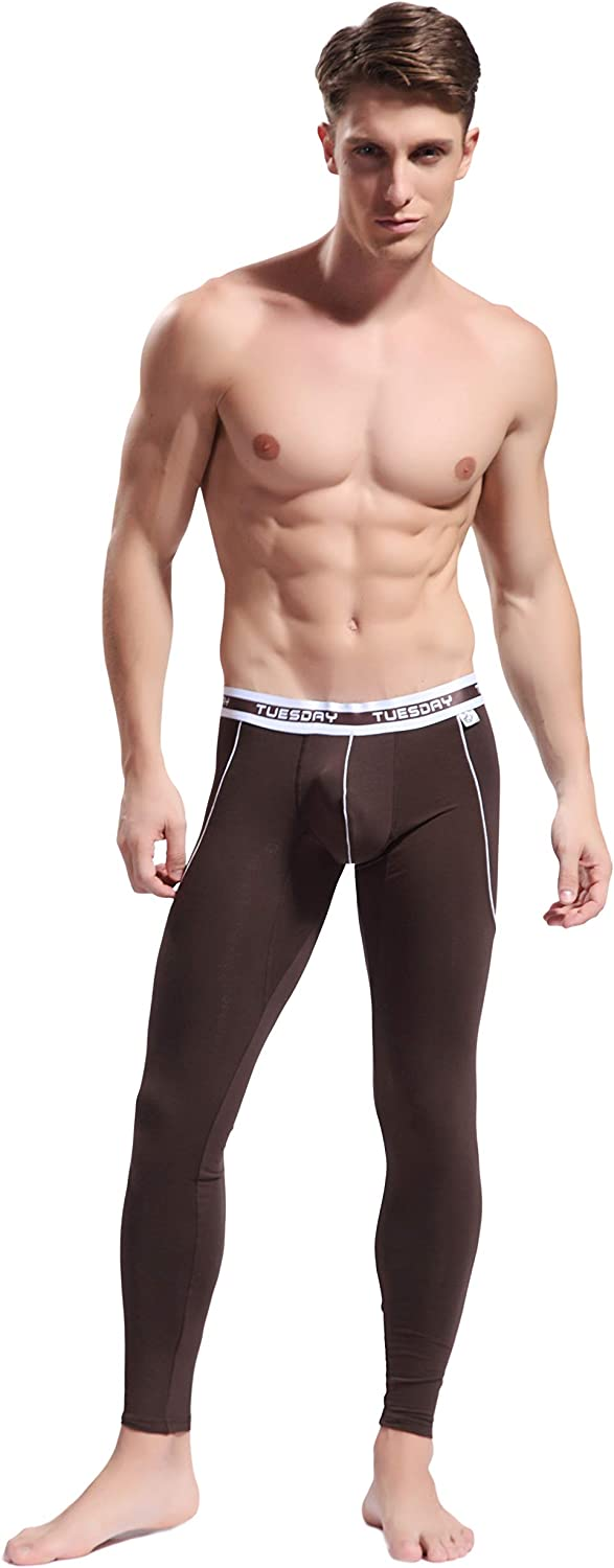 ARCITON Mens Low Rise Leggings Long Johns Thermal Pant