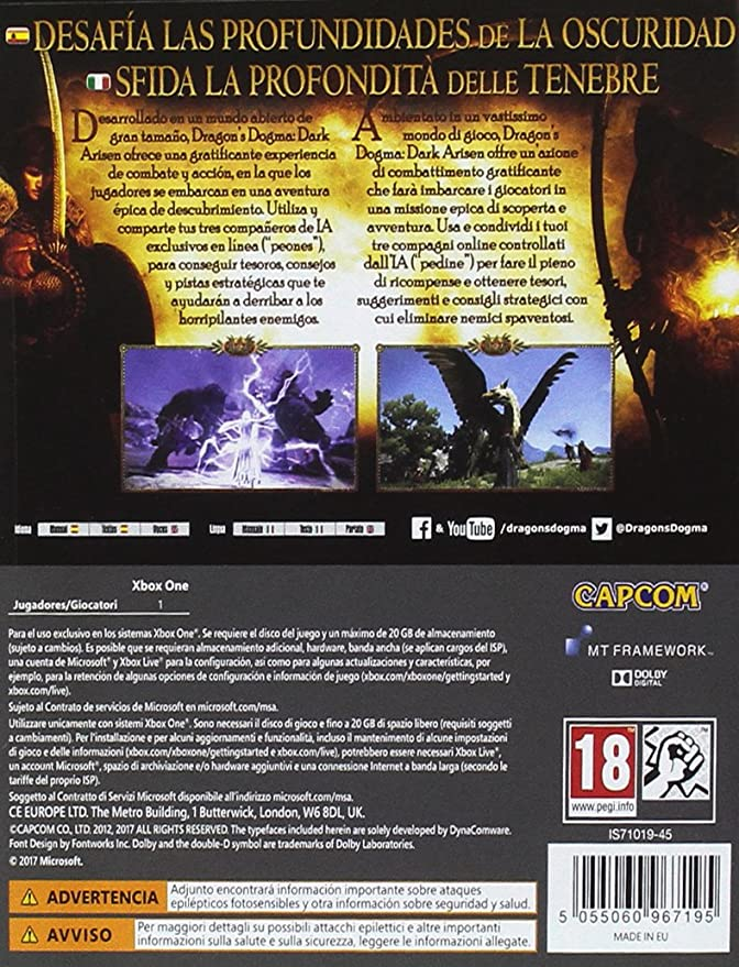 Dragons Dogma: Dark Arisen: Amazon.es: Videojuegos