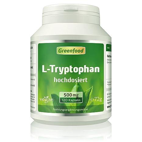 L de triptófano, 500 mg, hochdosiert, vegi de cápsulas – para un sueño