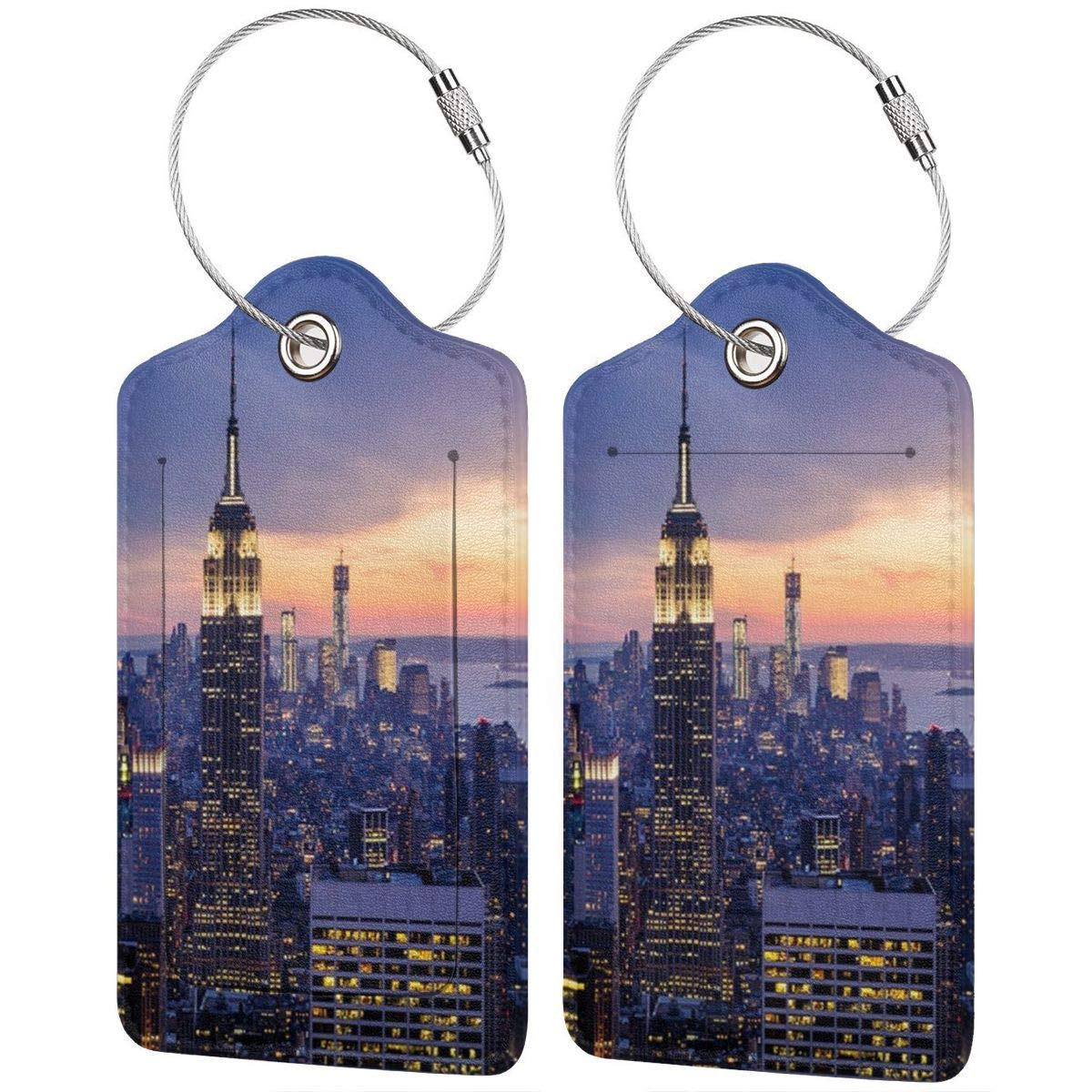Modern Home Decor Tapestry NYC York City Landscape Leather Luggage Tags Personalized Travel Accessories With Adjustable Strap