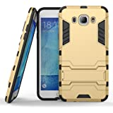 Mobiclonics® Iron Man09 Graphic Designed Stand Hard Dual Rugged Armor Back Case Cover For Samsung Galaxy J2 Pro/J2 2016(Gold)