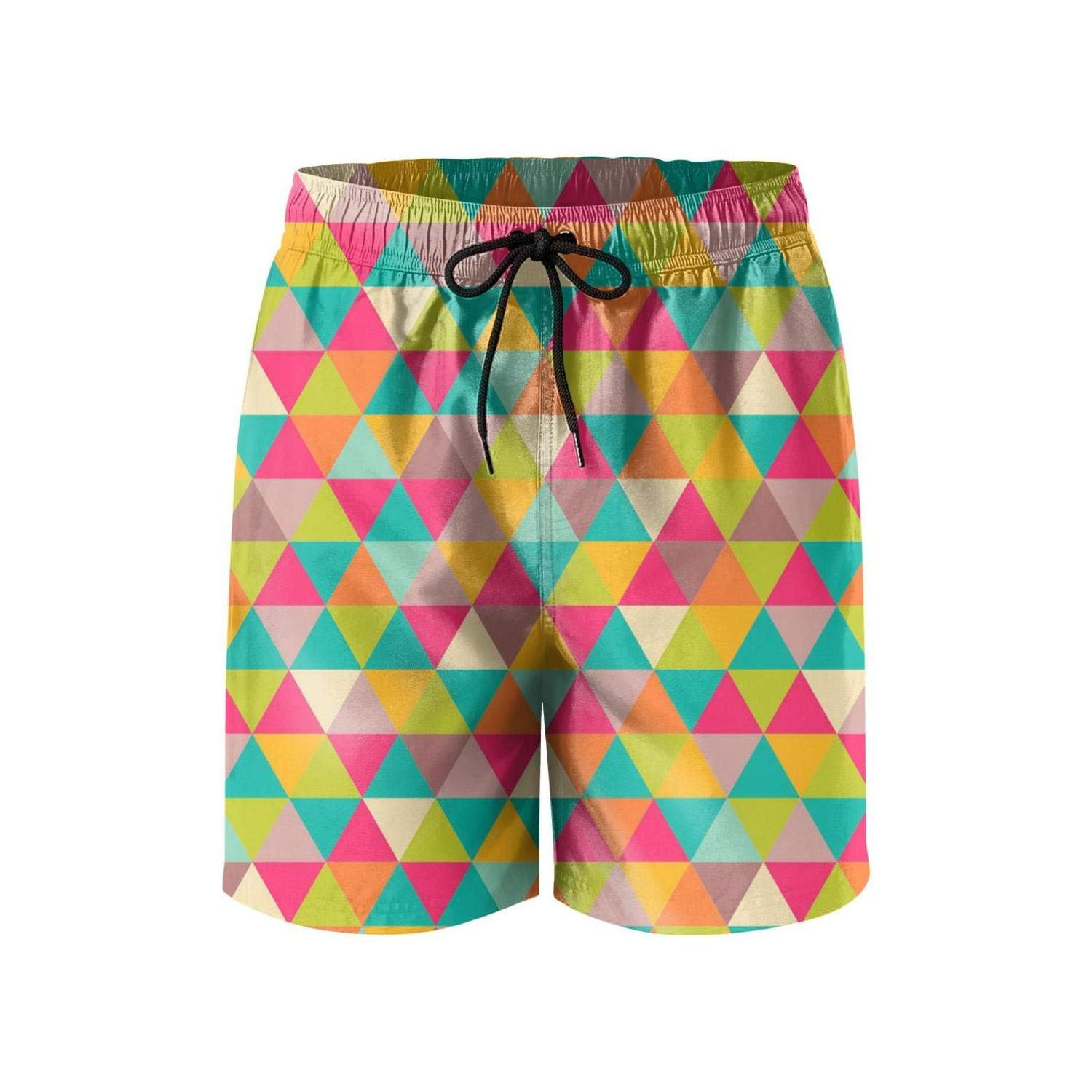 Camouflage Men Boardshorts City Elastic DSFASDXFX Colorful-Checkered-Red-and-Blue