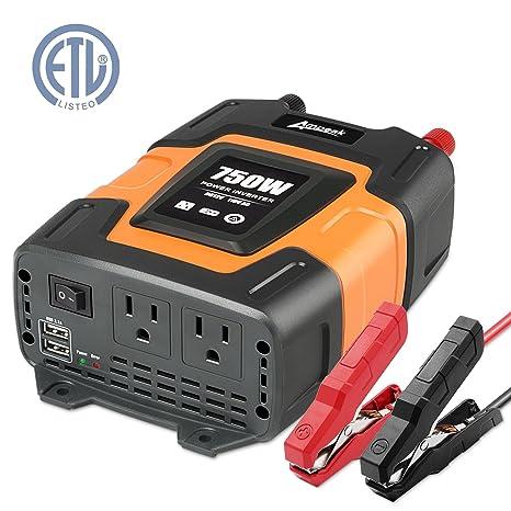 Amazon ampeak 750w power inverter dc 12v to 110v ac converter ampeak 750w power inverter dc 12v to 110v ac converter with 31a dual usb inverter publicscrutiny Choice Image