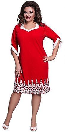 quality design 3e298 5b175 DD UP Damen Rundhals Spitze Stitching Kleid Business Etui ...