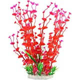 Jardin Manmade Plastic Plant for Fish Tank, 14.2-Inch Height, Red/Green