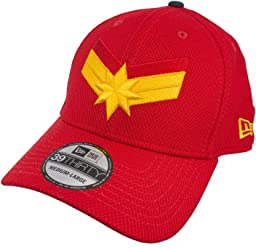 2a58afa4 New Era Captain Marvel Scarlet Red 3930 Flex Fit Hat