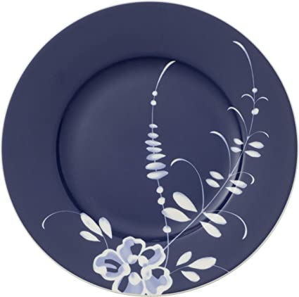 Villeroy & Boch Vieux Luxembourg Brindille plato de desayuno azul, 22 cm, Porcelana Premium