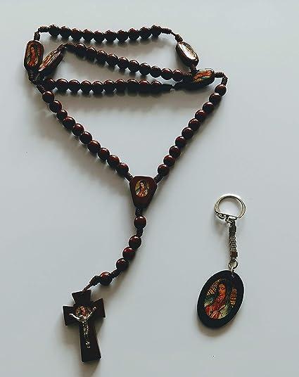 Amazon.com: Rosario y llavero Rosary and Keychain Virgen de ...