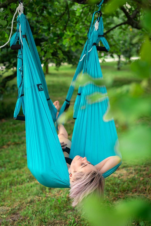 Wide Flying Yoga Inversion Tool Adult Kids Arial Trapeze Yoga Kit Yoga Hammock Swing Yoga4You Aerial Yoga Swing Set 2 Extension Straps Antigravity Ceiling Hanging Yoga Sling