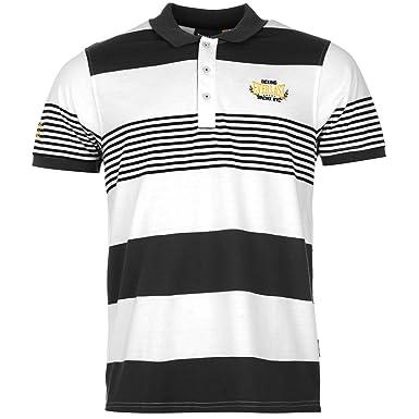 33196aa3d Everlast Mens Yarn Dye Stripe Polo Shirt Short Sleeve Casual Tee Top  Clothing Grey/Royal/Char M: Amazon.co.uk: Clothing