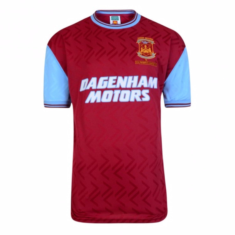 West Ham United FC Mens Official 1994 No 6 Replica Shirt