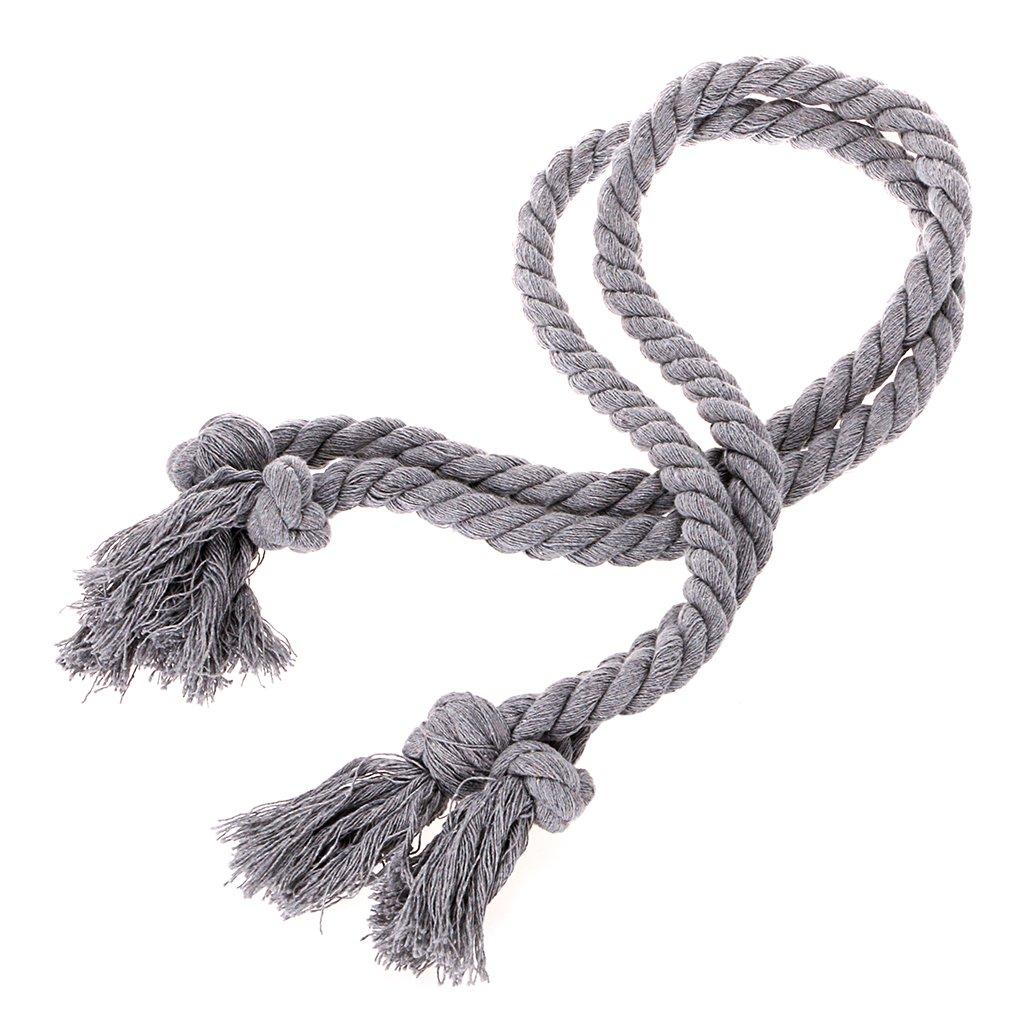 Btsky 2paires de la main à tricoter Rideau Embrasses Corde en coton Embrasses Curation support Tassel Cordon Drape