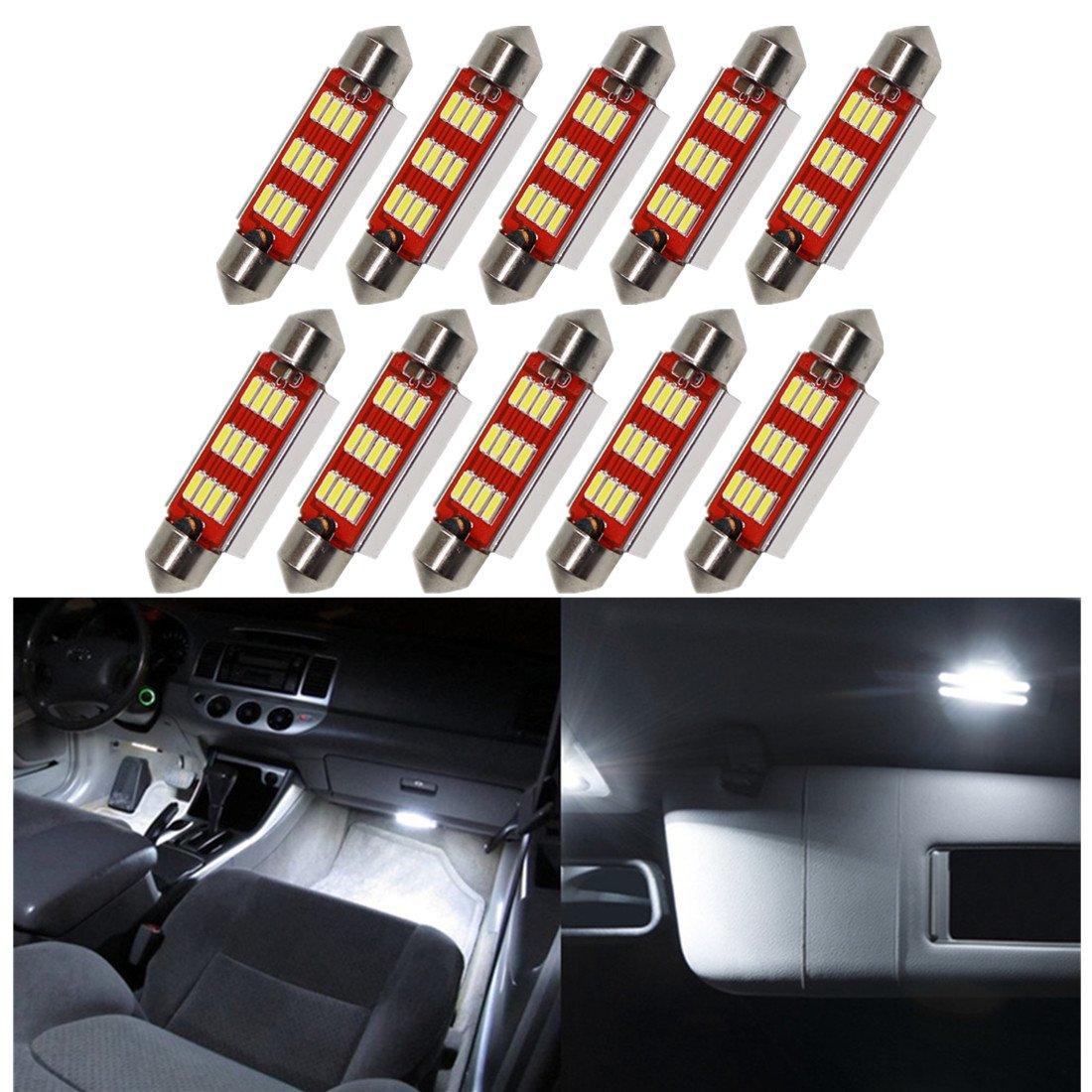 FEZZ Automobile LED Lampadine Interne Festoon 36mm C5W C10W CANBUS 4014 12SMD 5W FZ0186-01